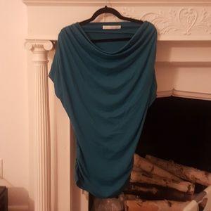 Susana Monaco Bright Aqua Off Shoulder Mini Dress